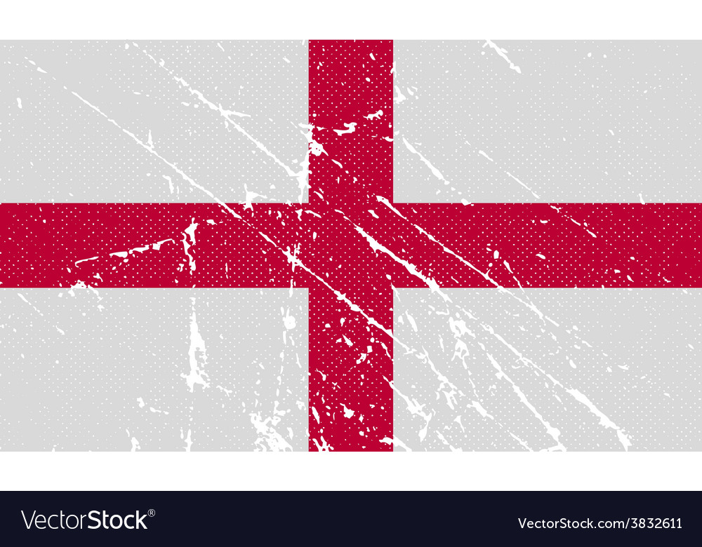 Flag of england with old texture vector | Price: 1 Credit (USD $1)