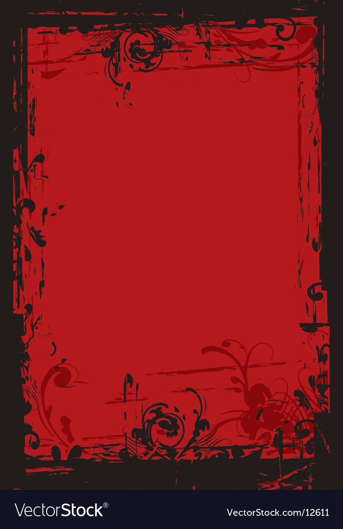 Grunge floral border vector | Price: 1 Credit (USD $1)