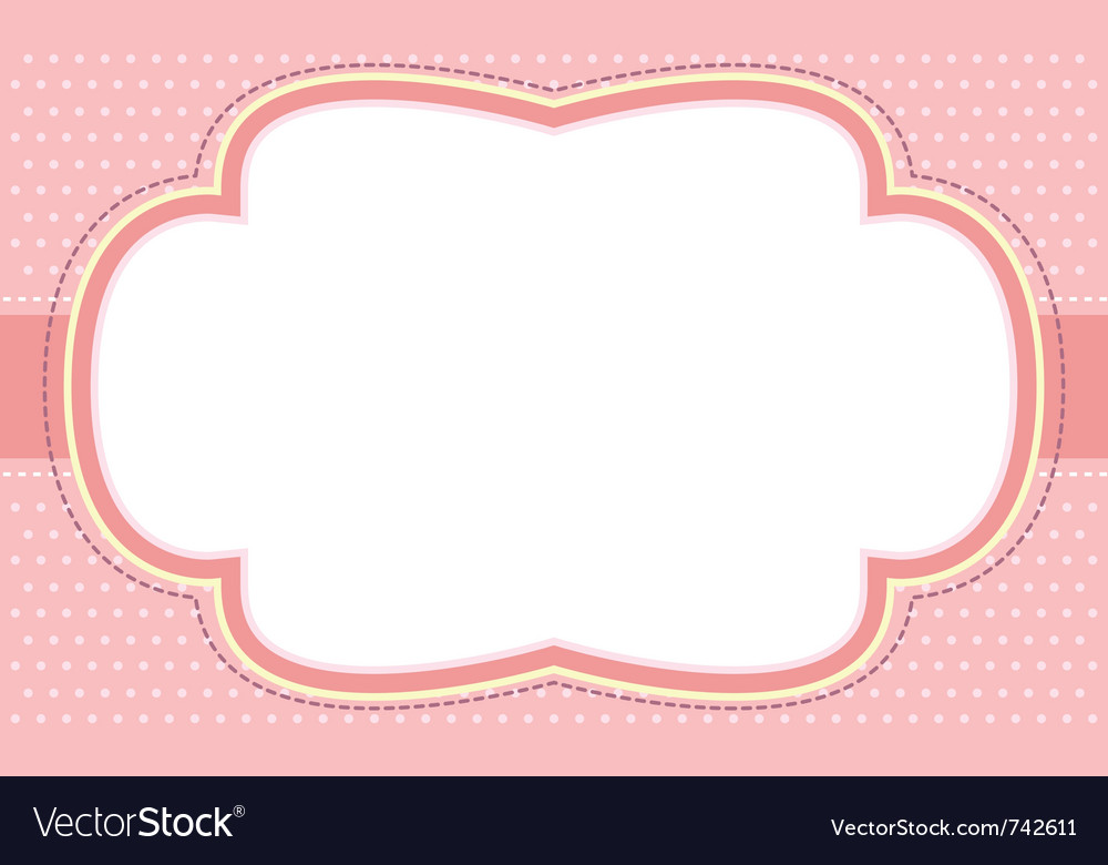 Ornate pink bubble frame vector | Price: 1 Credit (USD $1)