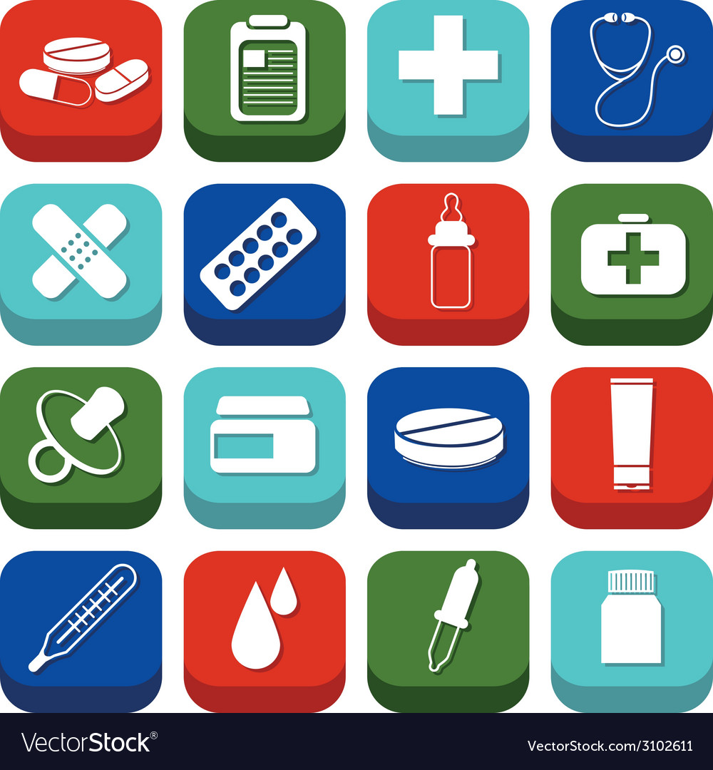 Pharmacy icons vector | Price: 1 Credit (USD $1)