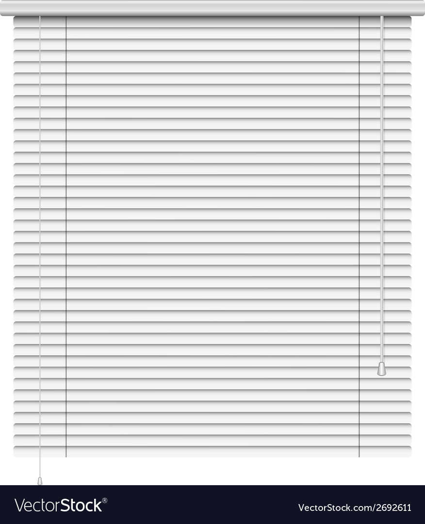 Realistic home related blinds isolated on white vector | Price: 1 Credit (USD $1)