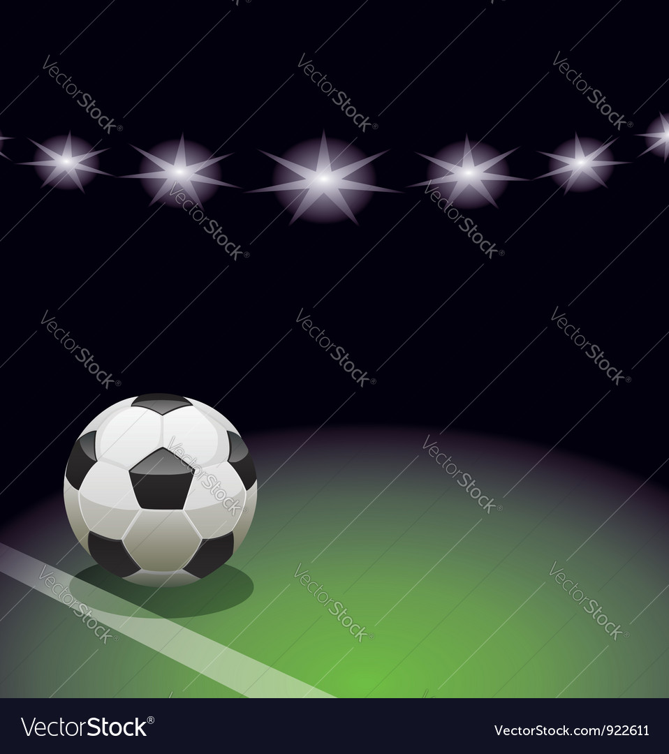 Soccer ball and the stadium vector | Price: 3 Credit (USD $3)
