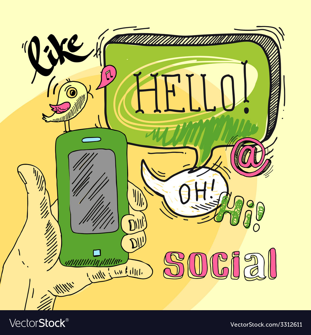 Speech bubble social vector | Price: 1 Credit (USD $1)