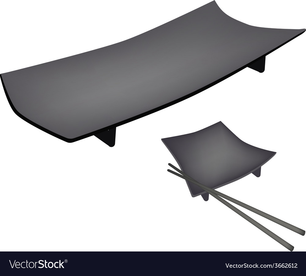 Beautiful geta plate or wooden sushi board vector | Price: 1 Credit (USD $1)