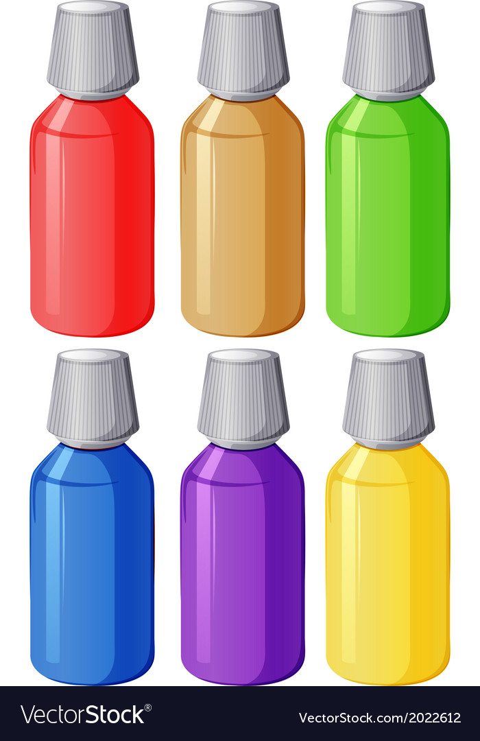 Colourful medical bottles vector | Price: 1 Credit (USD $1)
