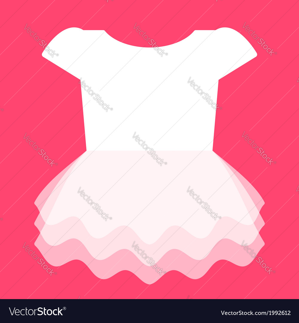 Cute dress for little girl vector | Price: 1 Credit (USD $1)