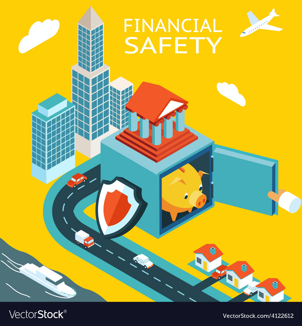 Financial safety and money making vector | Price: 1 Credit (USD $1)