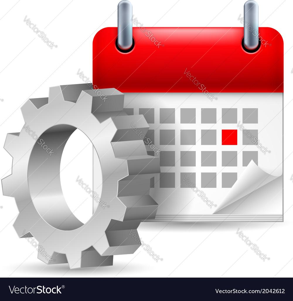 Gear wheel and calendar vector | Price: 1 Credit (USD $1)