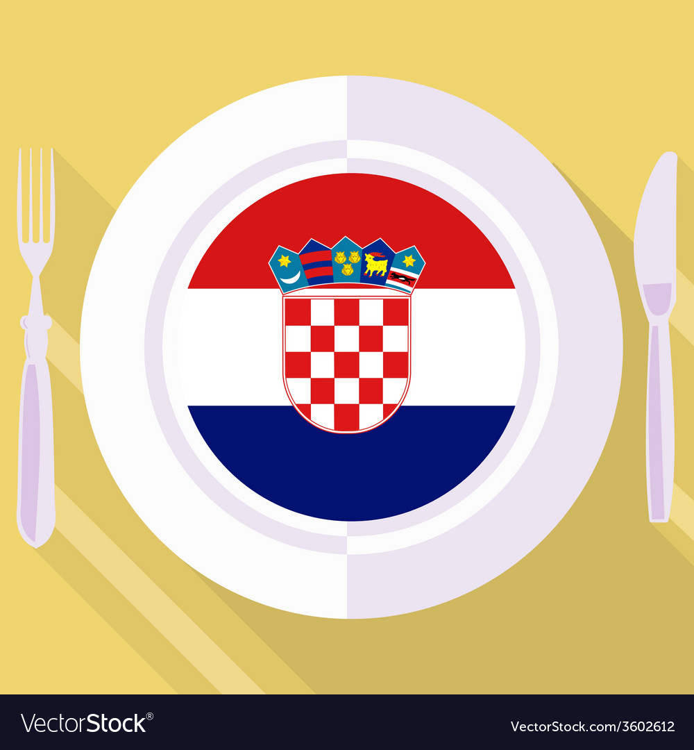 Kitchen of croatia vector | Price: 1 Credit (USD $1)