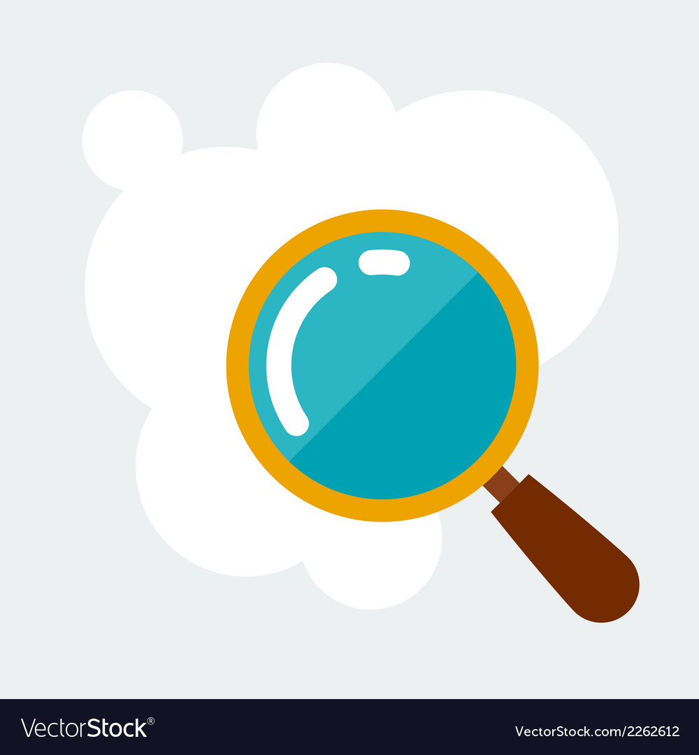 Magnifying glass research concept in flat style vector | Price: 1 Credit (USD $1)