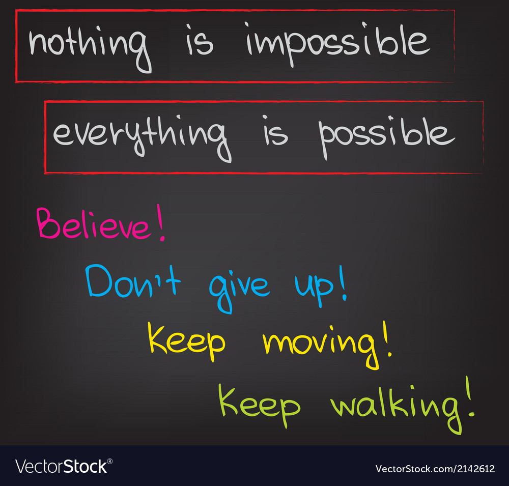 Nothing is impossible vector | Price: 1 Credit (USD $1)