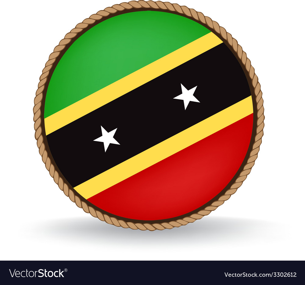 Saint kitts and nevis seal vector | Price: 1 Credit (USD $1)