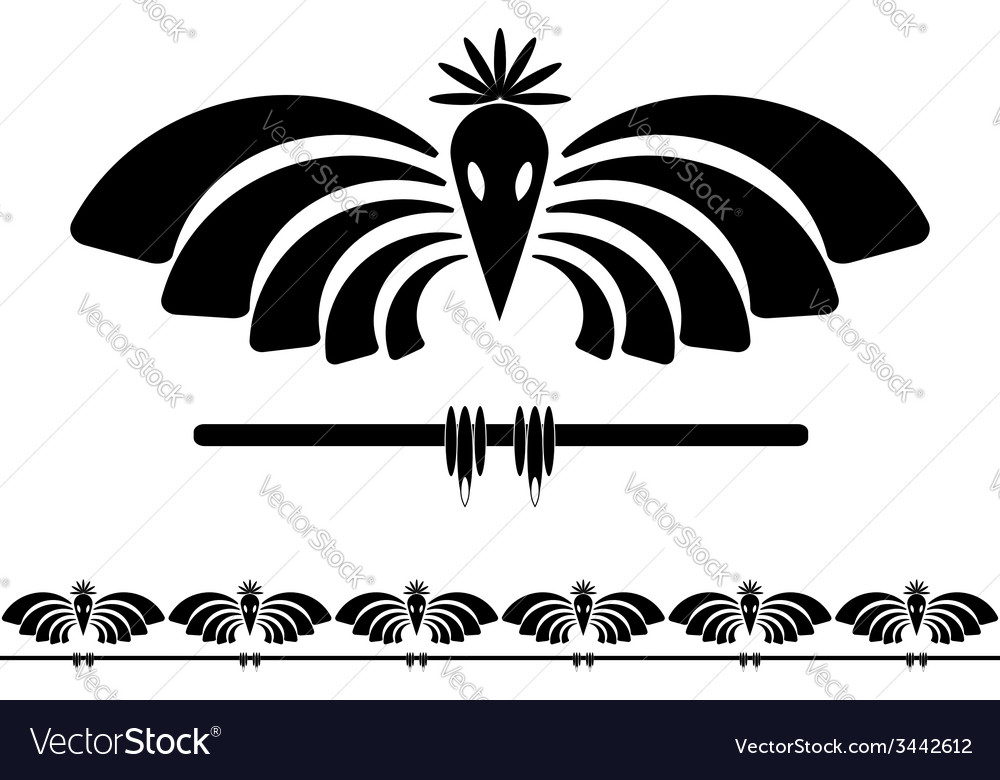 Stylized raven vector | Price: 1 Credit (USD $1)