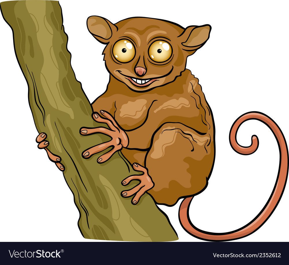 Tarsier animal cartoon vector | Price: 1 Credit (USD $1)