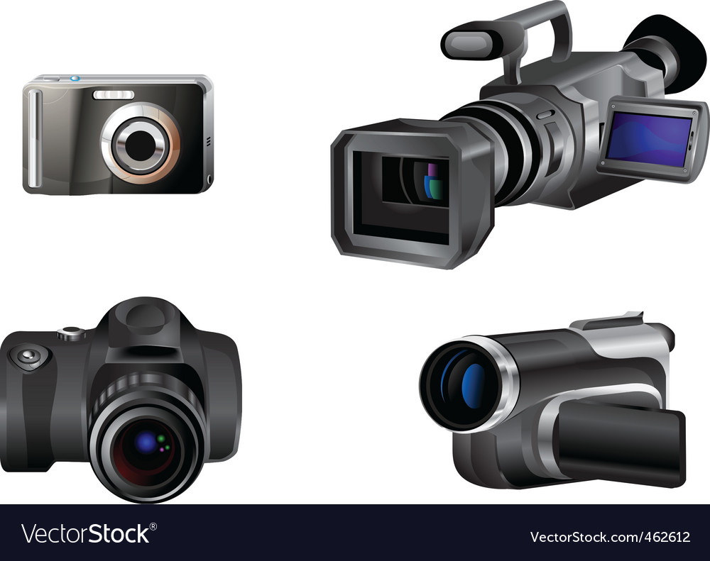 Video and photo camera icons vector | Price: 1 Credit (USD $1)
