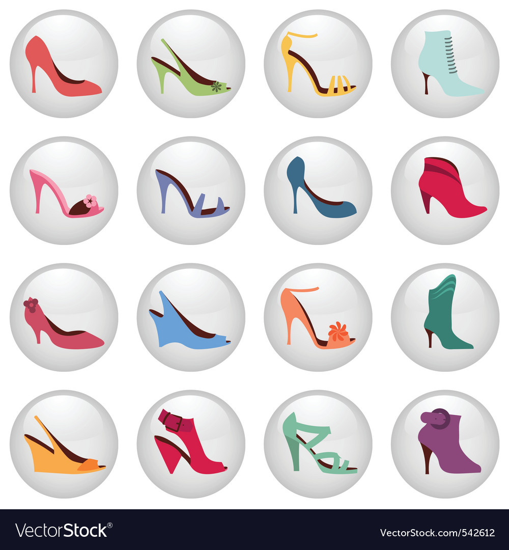 Woman shoes icon vector | Price: 1 Credit (USD $1)