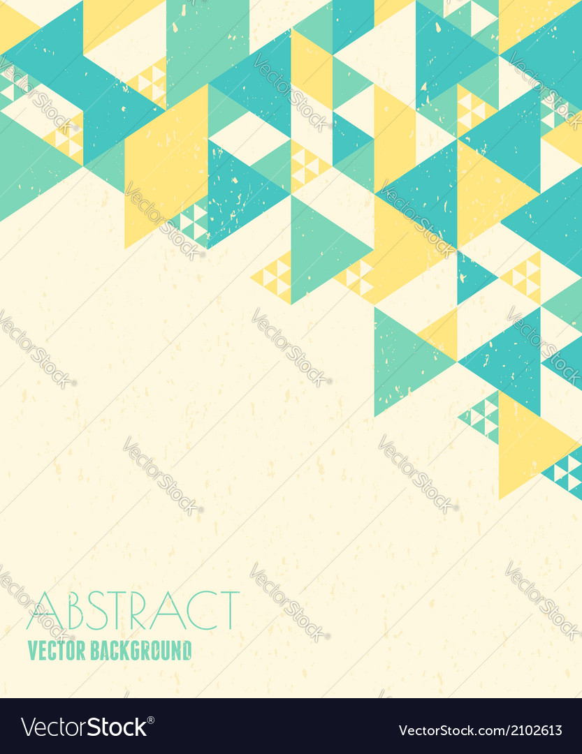 Abstract geometric background in blue and yelow vector | Price: 1 Credit (USD $1)