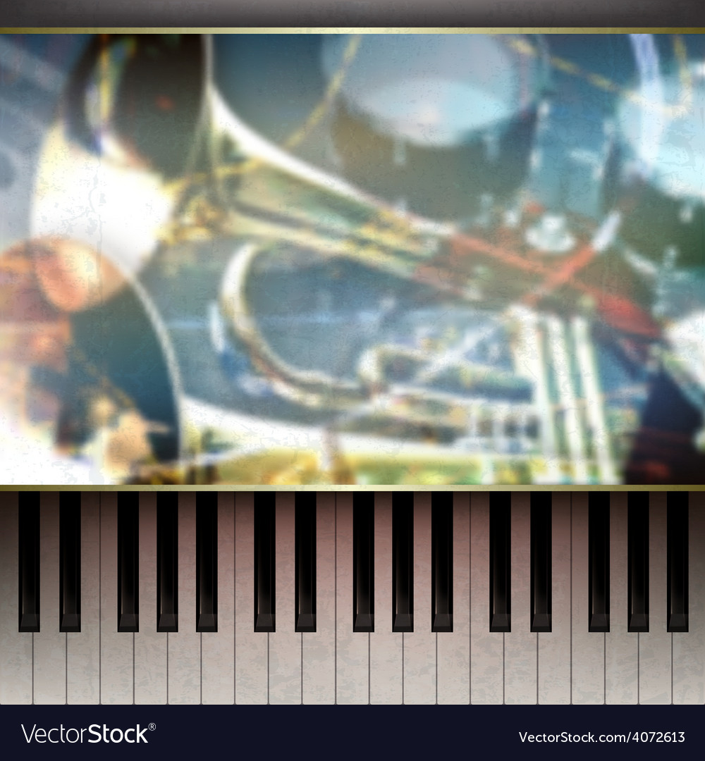 Abstract grunge blue background with piano and vector | Price: 3 Credit (USD $3)