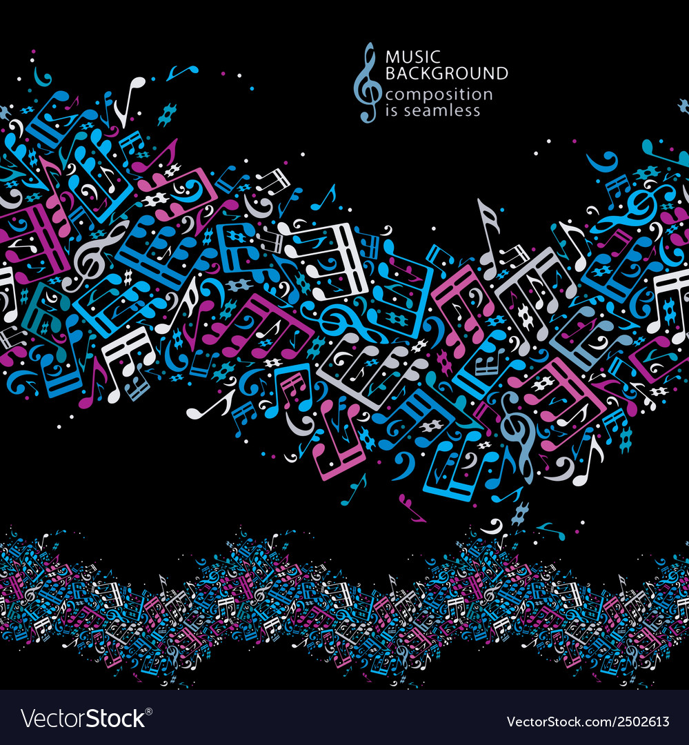 Colorful dotted seamless music background bright vector | Price: 1 Credit (USD $1)