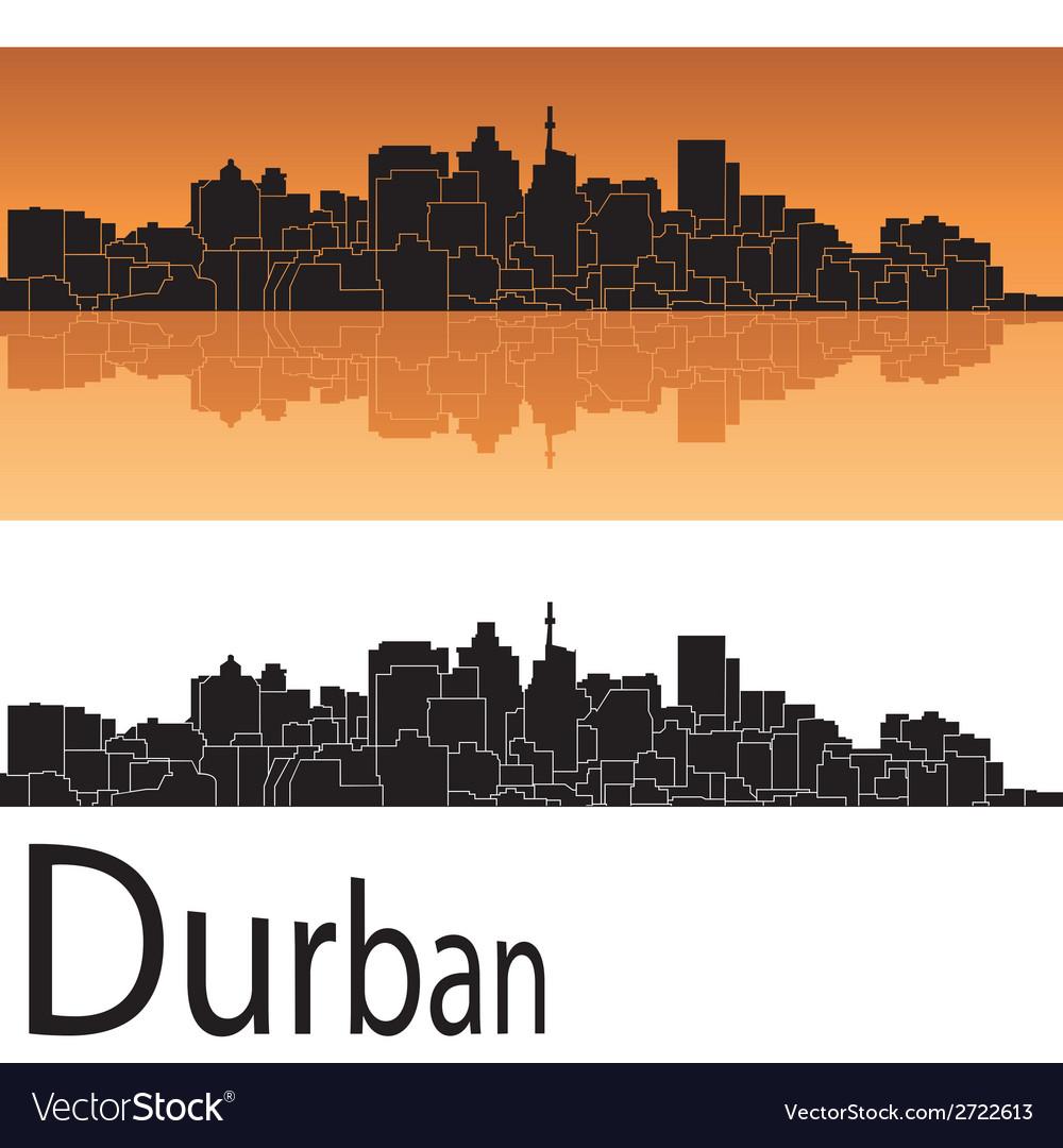 Durban skyline in orange background vector | Price: 1 Credit (USD $1)