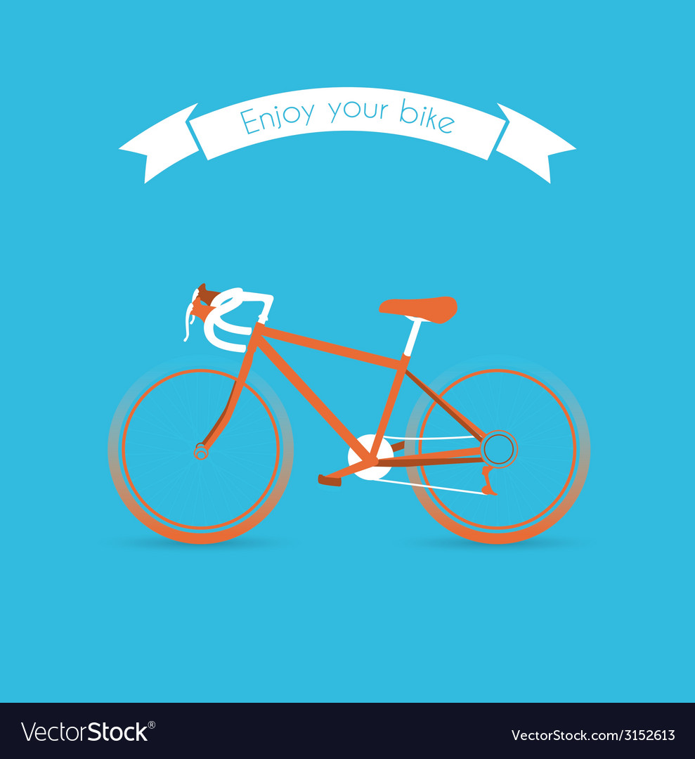 Engoy your bicycle image vector | Price: 1 Credit (USD $1)