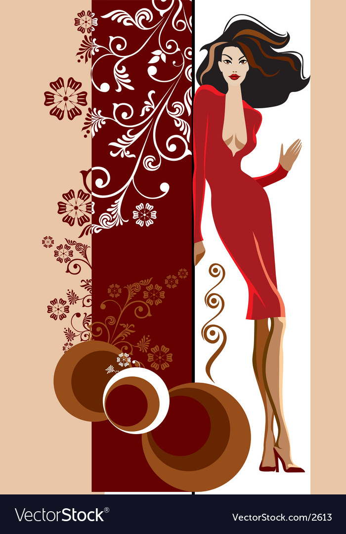 Fashion girl vector | Price: 3 Credit (USD $3)