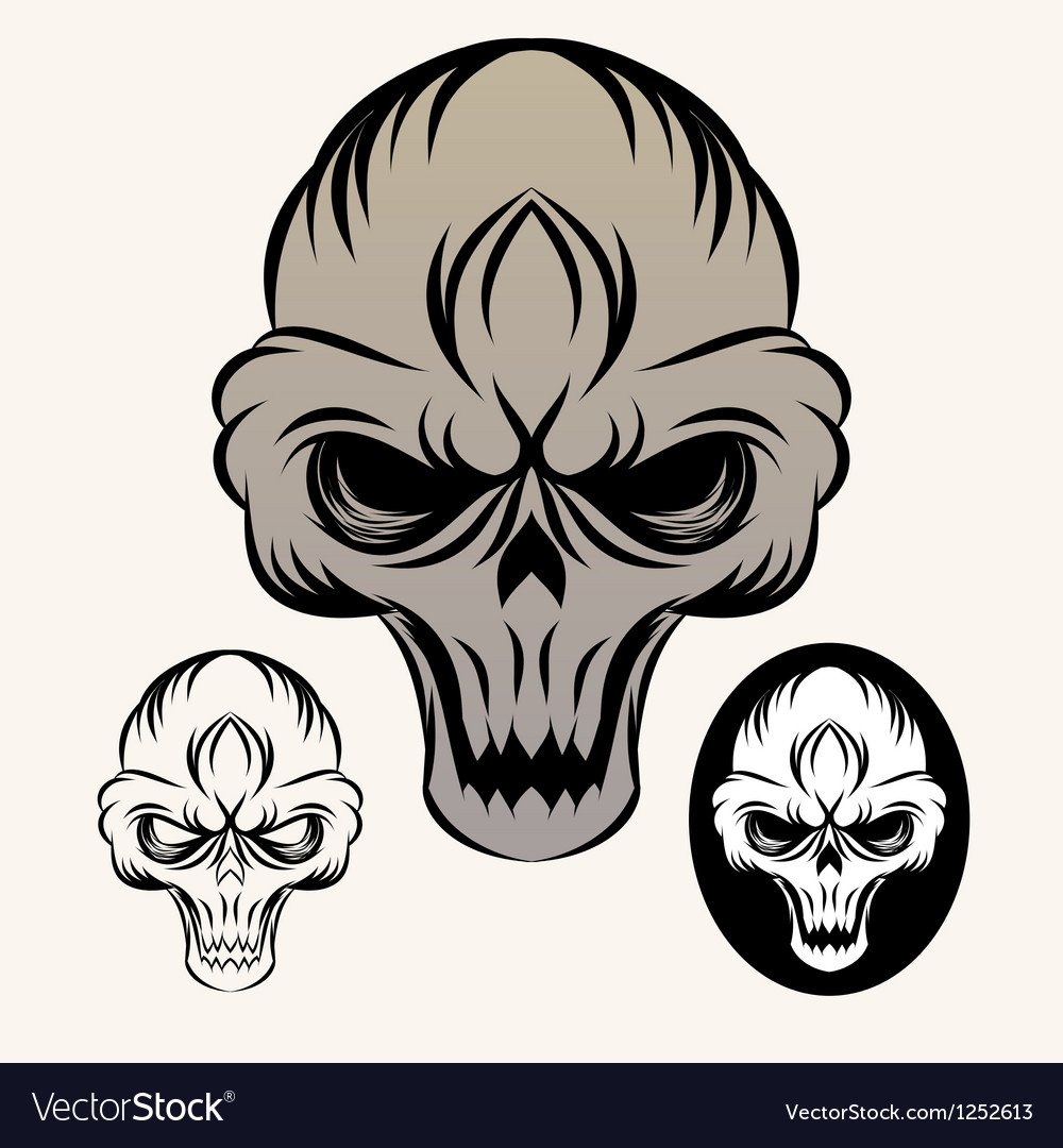 The-skull vector | Price: 1 Credit (USD $1)