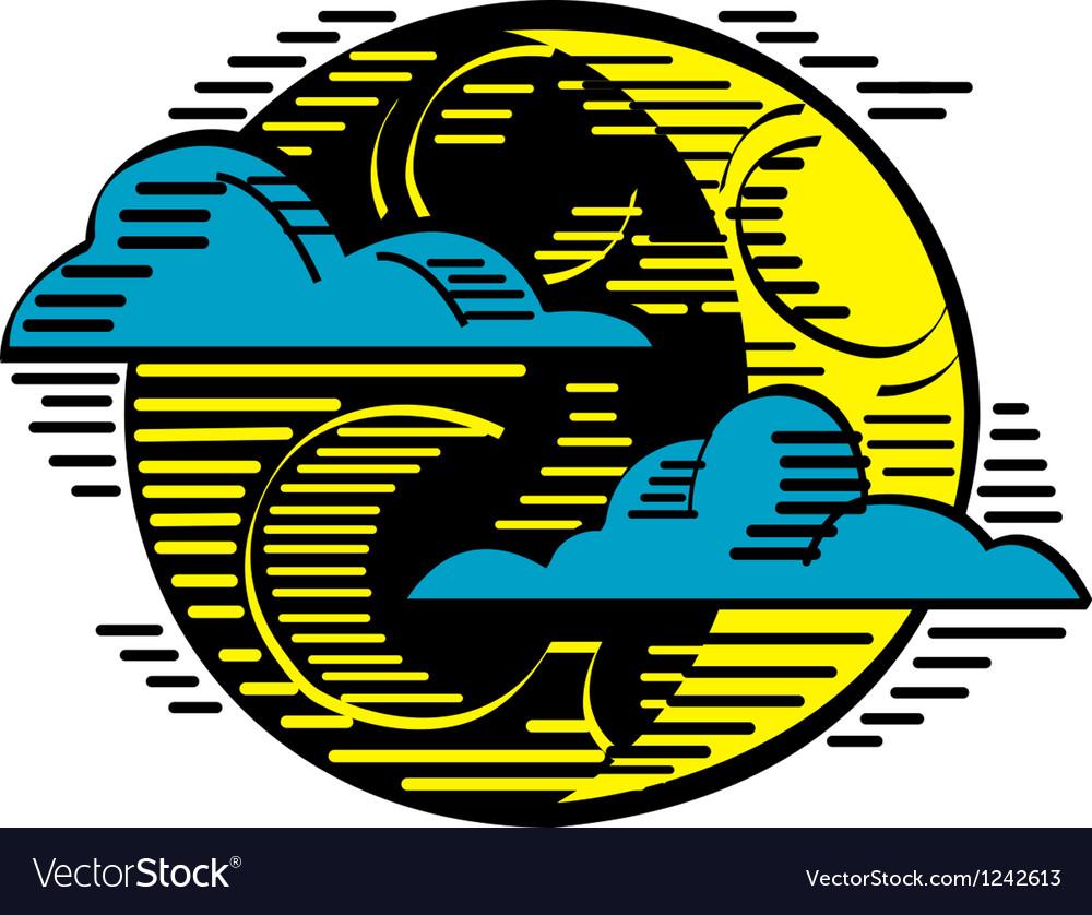Moon night logo vector | Price: 1 Credit (USD $1)