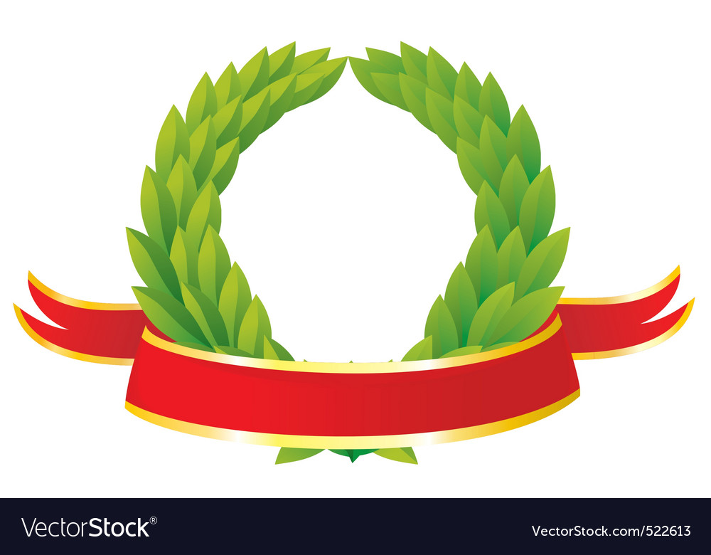 Ribbon wreath vector | Price: 1 Credit (USD $1)