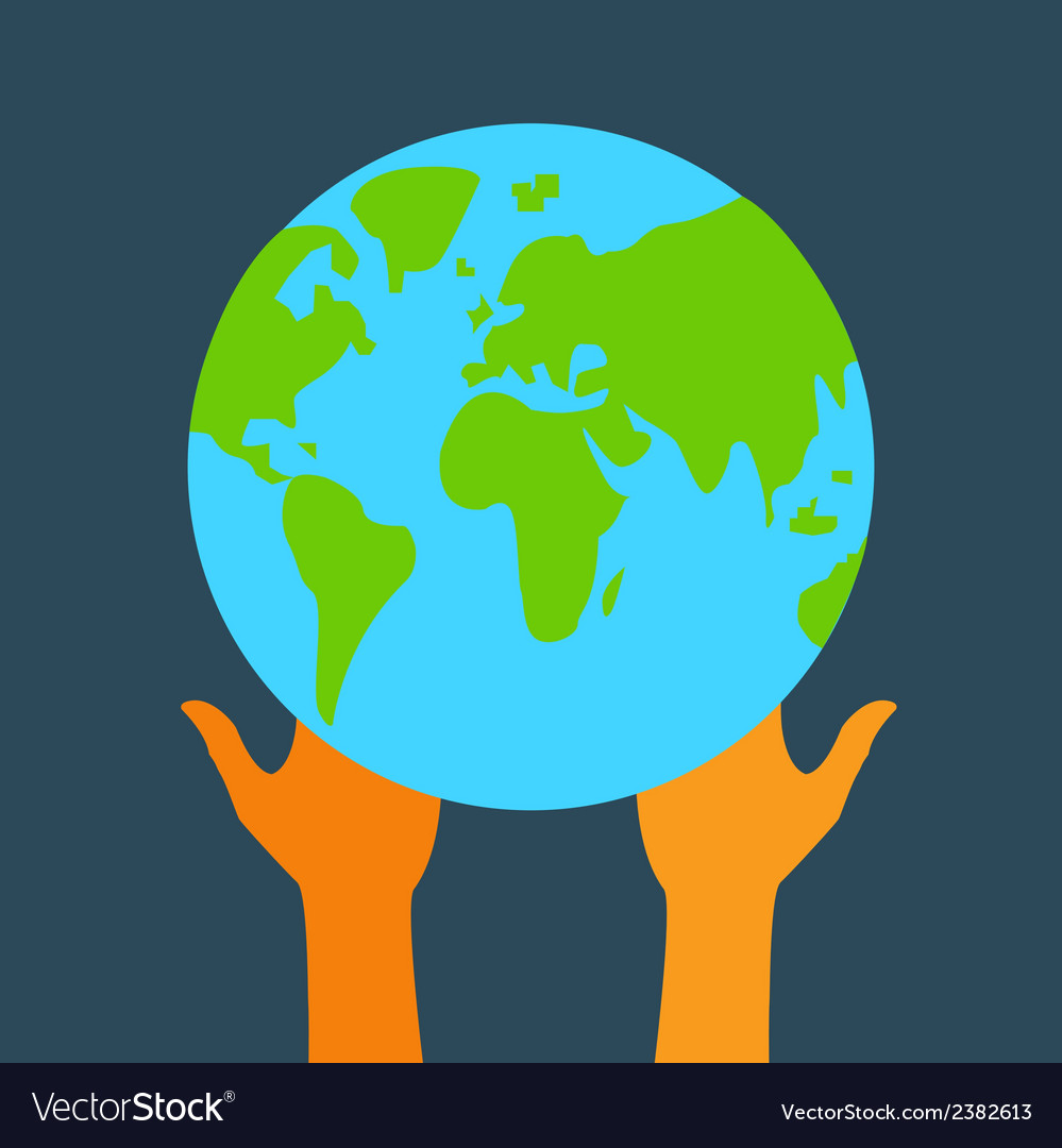 Stock globe and hands eps vector | Price: 1 Credit (USD $1)