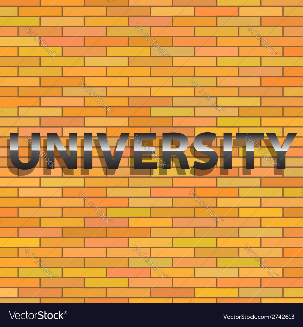 Universiry sign vector | Price: 1 Credit (USD $1)