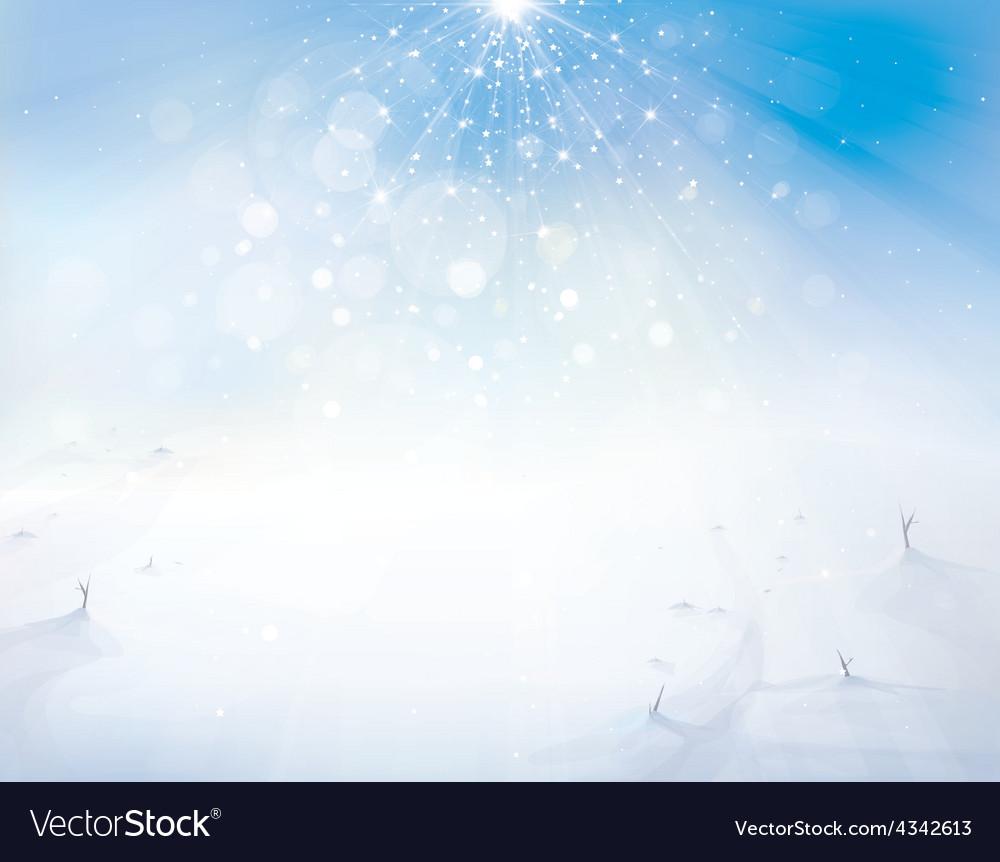Winter sky snow vector