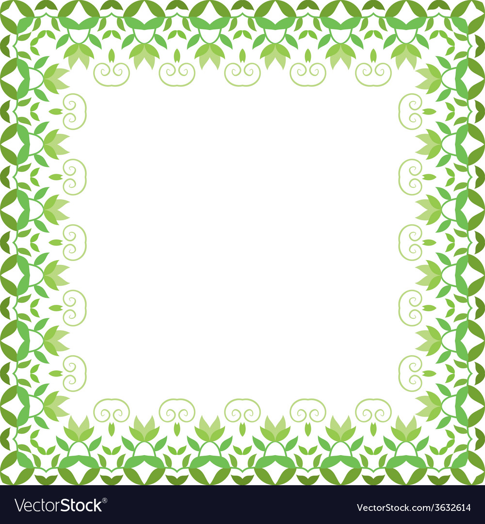 Floral frame decorative flower ornament vector | Price: 1 Credit (USD $1)