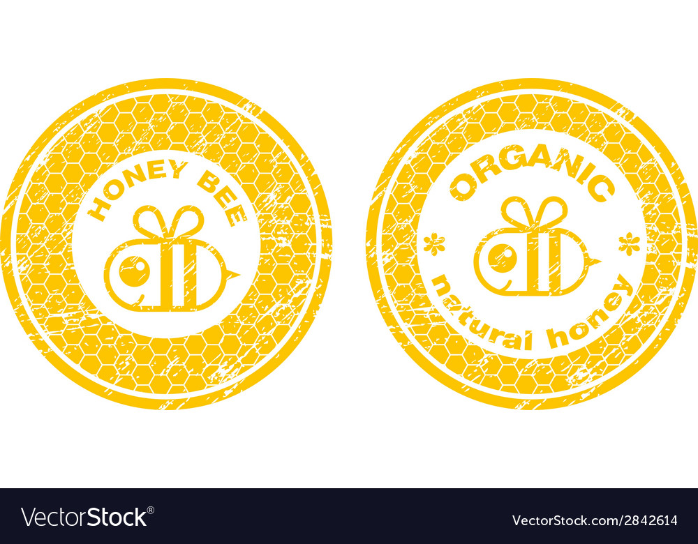 Honey stamp vector | Price: 1 Credit (USD $1)