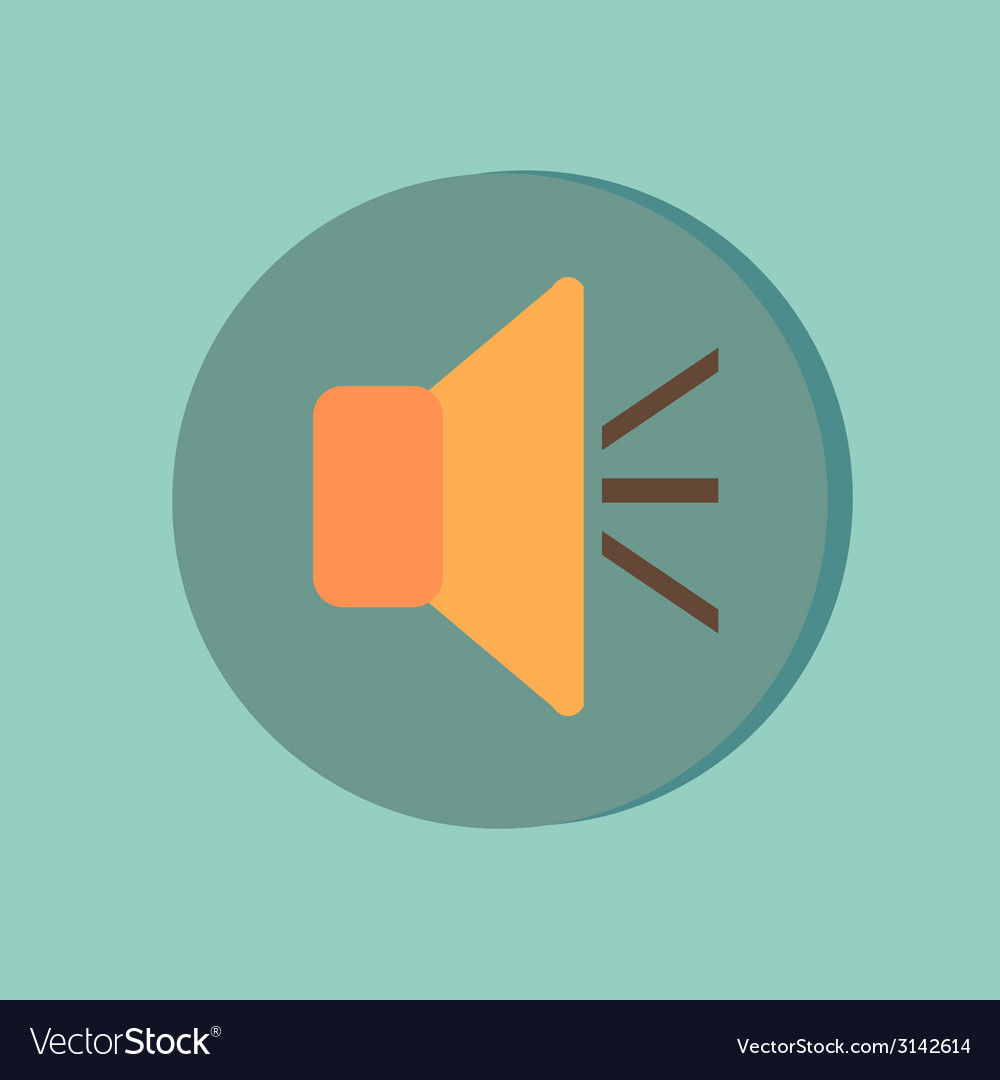 Loudspeaker volume icon sound icon vector | Price: 1 Credit (USD $1)