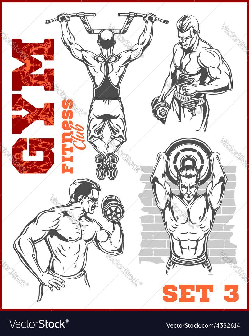 Men - bodybuilders gym bodybuilding vector   Price: 1 Credit (USD $1)