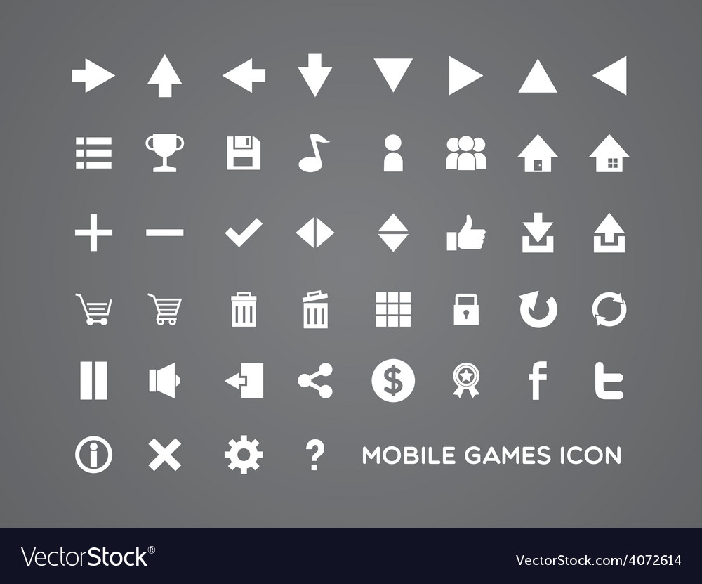Mobile games icon vector | Price: 1 Credit (USD $1)