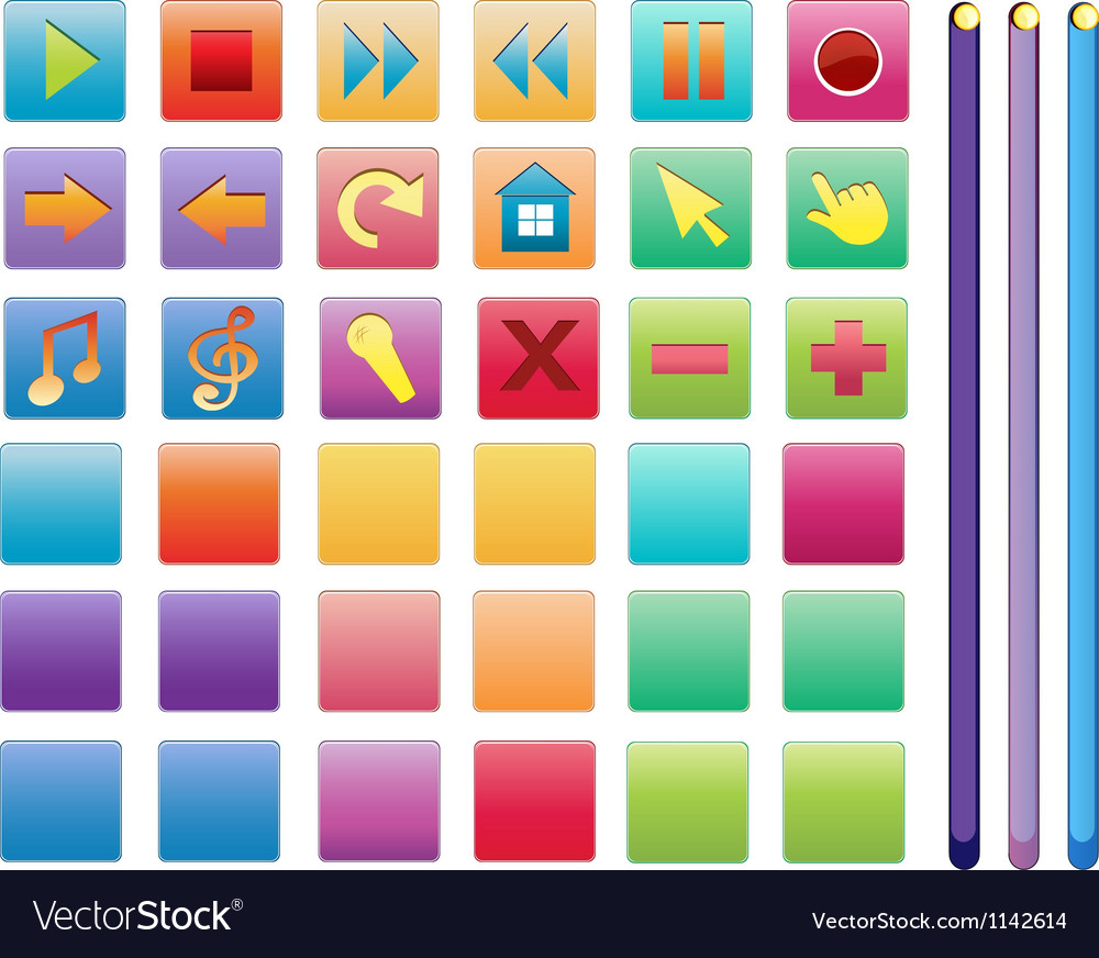 Music entertainment icons vector | Price: 1 Credit (USD $1)