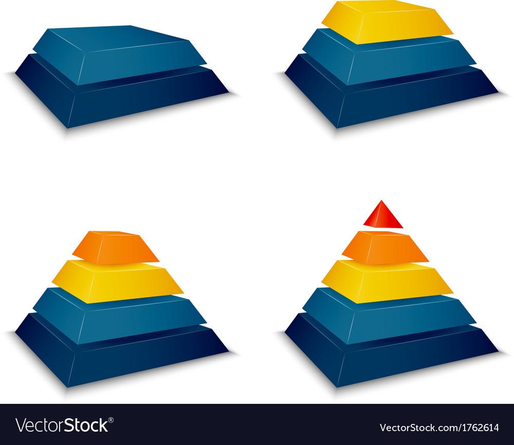 Pyramid building progress vector | Price: 1 Credit (USD $1)