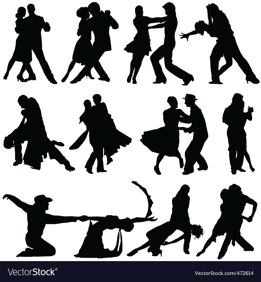 Romantic dance vector | Price: 1 Credit (USD $1)