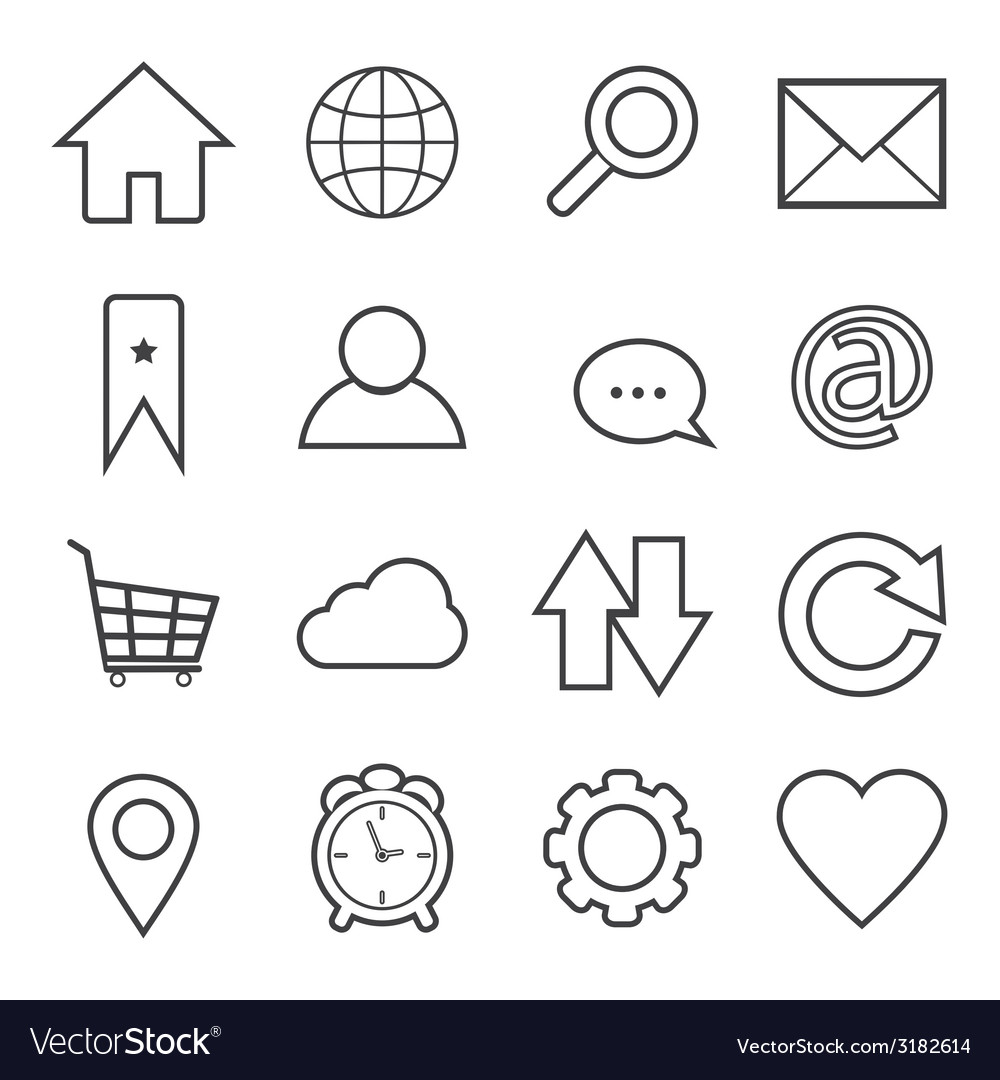 Website and internet icon vector | Price: 1 Credit (USD $1)