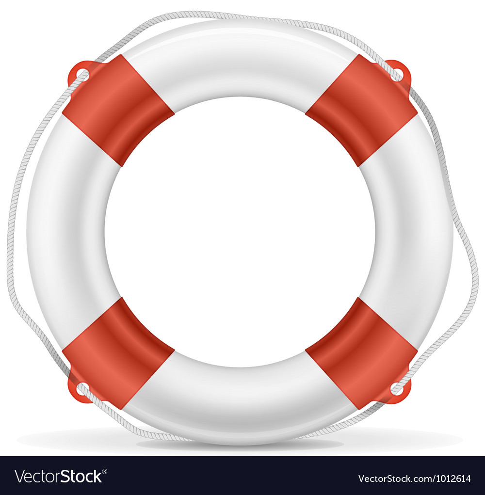 White lifebuoy vector | Price: 3 Credit (USD $3)