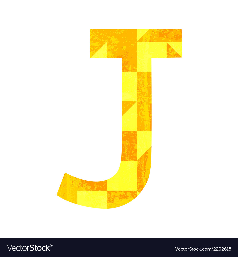 Abstract color alphabet j vector | Price: 1 Credit (USD $1)