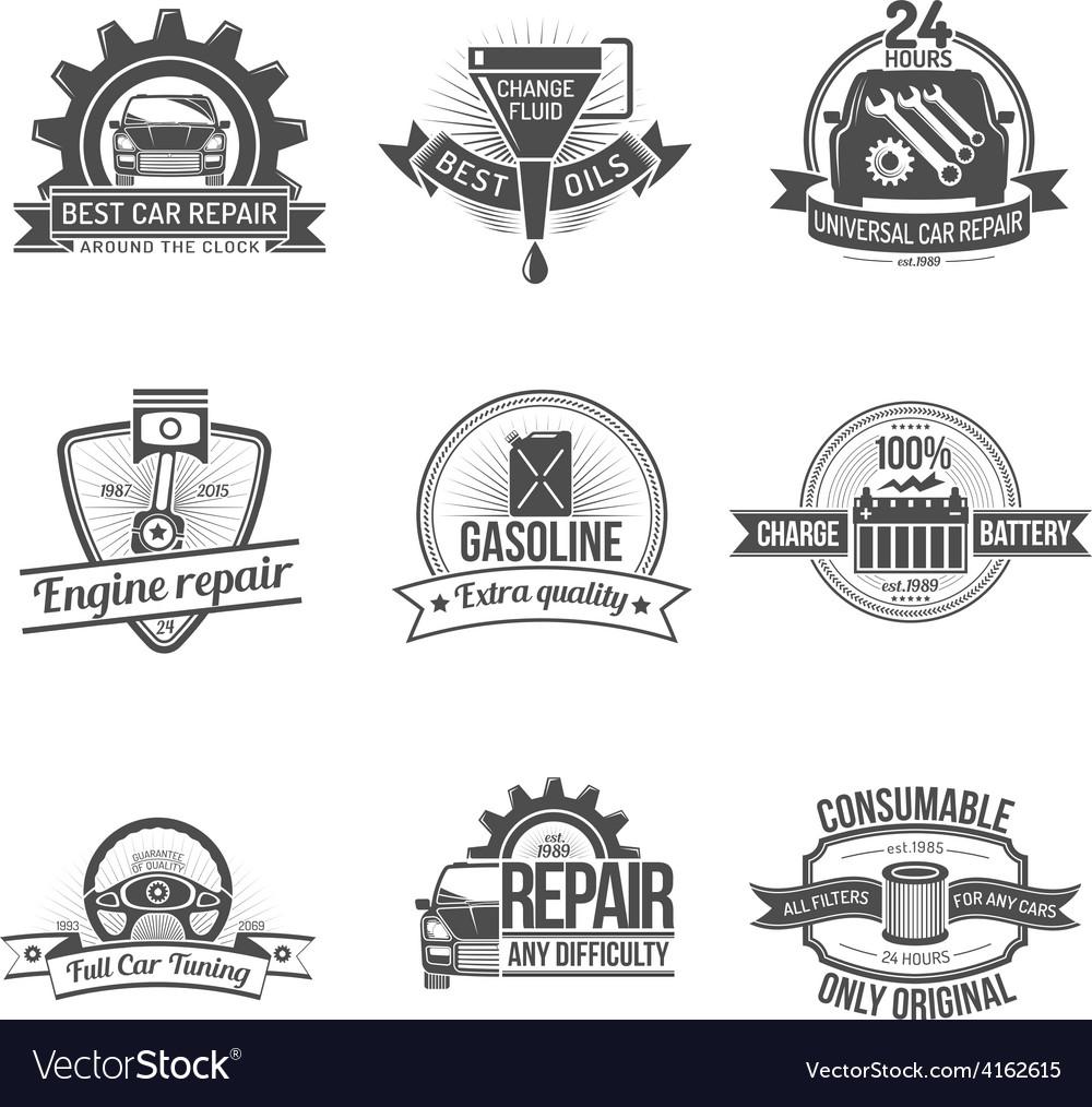Auto service emblem vector | Price: 1 Credit (USD $1)