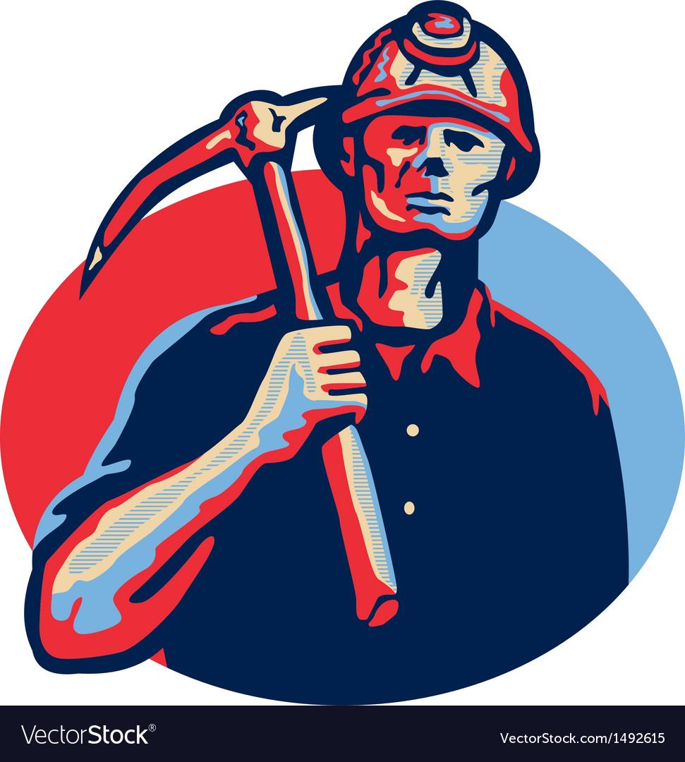 Coal miner pick axe retro vector | Price: 1 Credit (USD $1)
