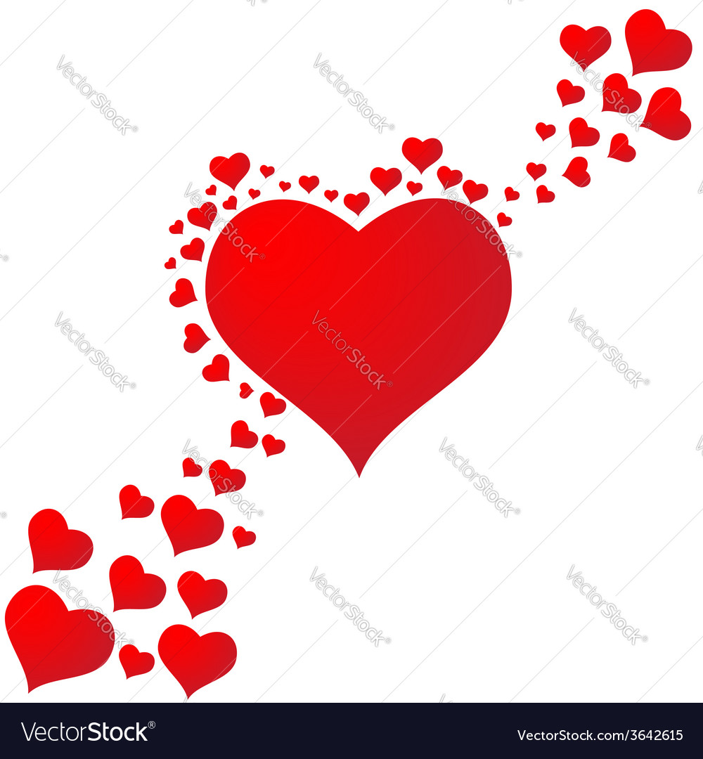 Falling in love with hearts background vector | Price: 1 Credit (USD $1)