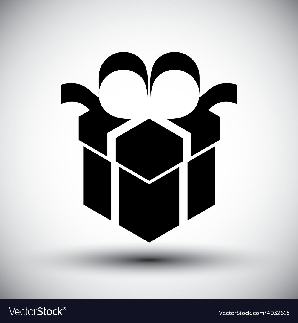 Gift box simple single color new idea symbol vector | Price: 1 Credit (USD $1)
