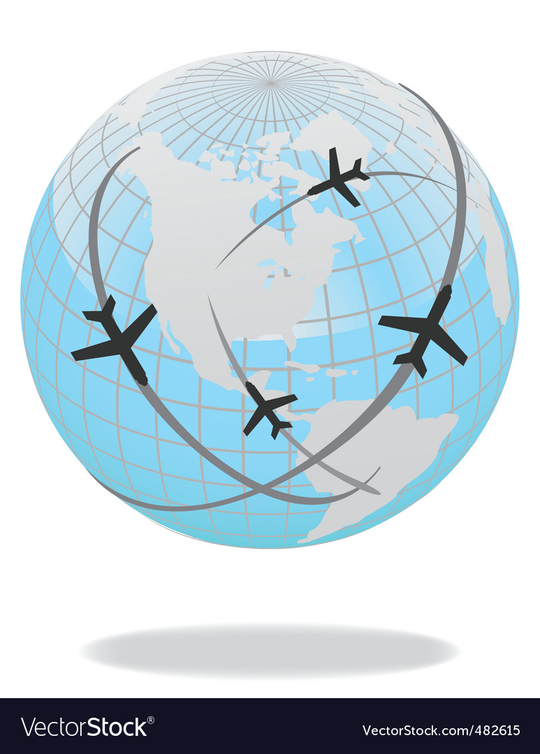 Global travel vector | Price: 1 Credit (USD $1)