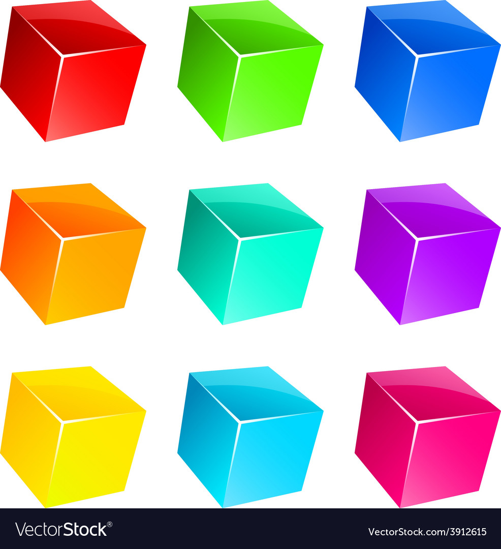 Glossy cubes vector | Price: 1 Credit (USD $1)