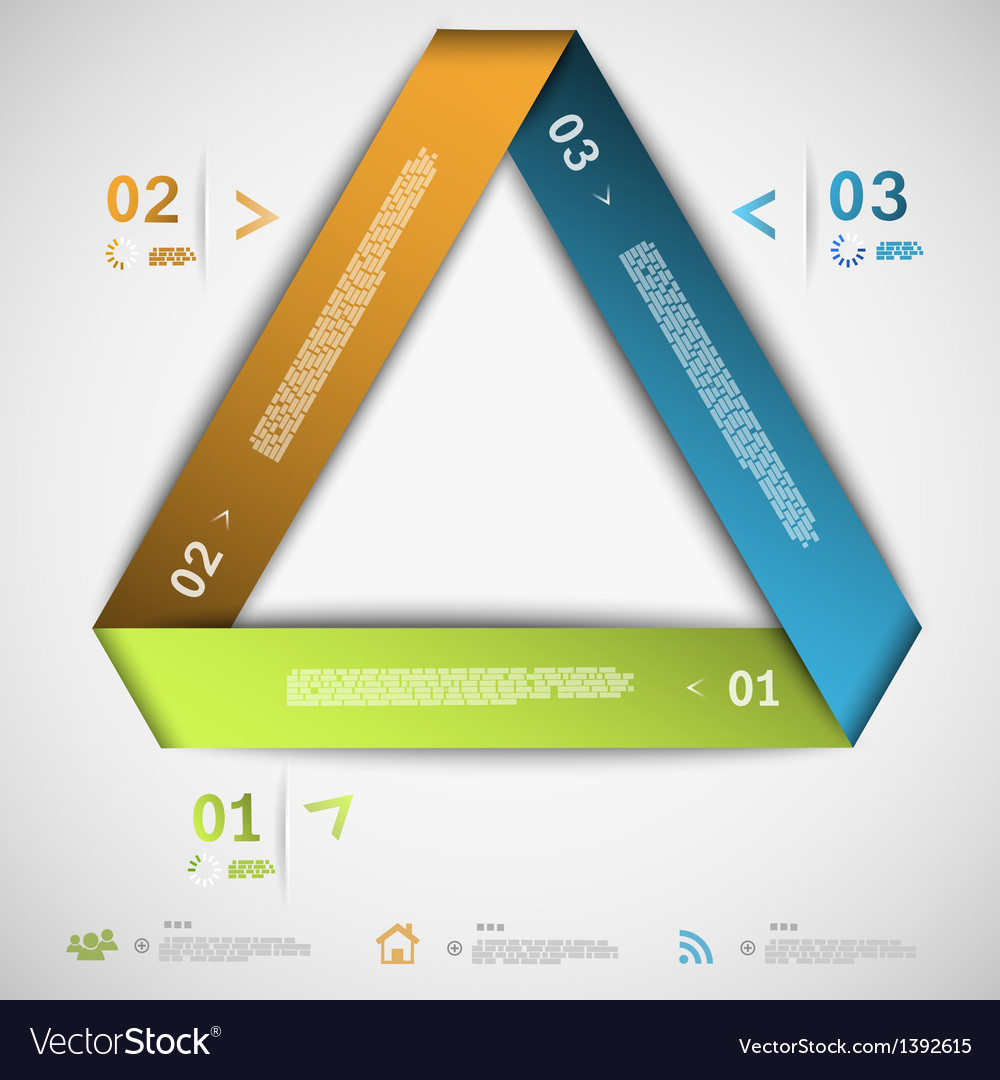 Infographic paper triangle template vector | Price: 1 Credit (USD $1)